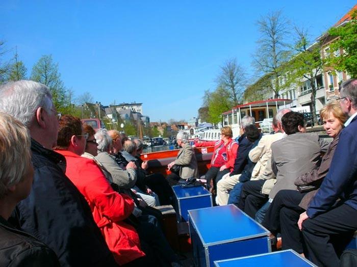 Toeristische bootjes stad Mechelen