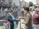Zaterdagmarkt onder coronamaatregelen in stad Mechelen