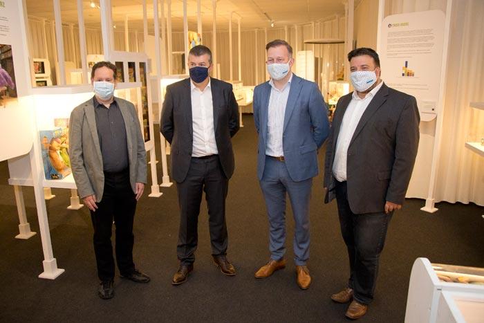 v.l.n.r Bart Stroobants, Bart Somers, Alexander Vandersmissen en Björn Siffer Foto Verschueren Eddy (Mechelen op zijn Best)